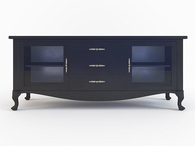 czarna komoda design kod kg 20 3d model max 2