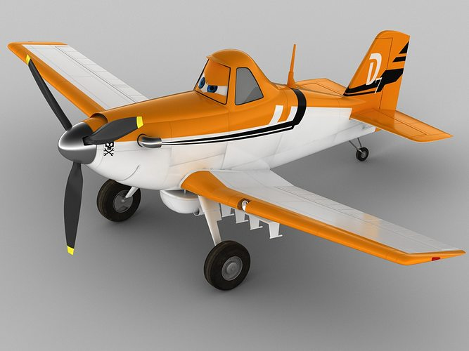 dusty crophopper 3d model max obj 3ds fbx c4d lwo lw lws 1