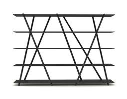 Contemporary Steel Bookshelf 3D Model