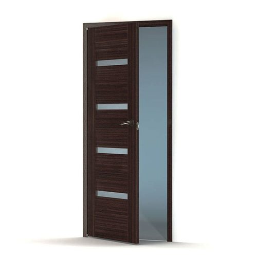 modern office door. Modern Blue And Black Wood Office Door 3D Model