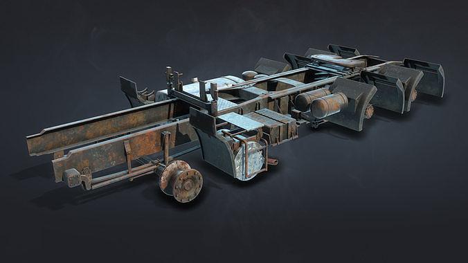 Semi-Trailer Truck Frame Rusty
