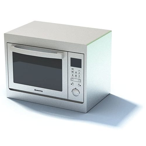 New White Compact Microwave Oven Model