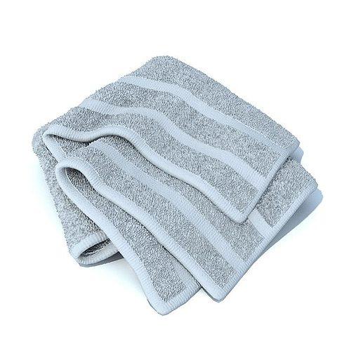 blue bath towel 3d model  1