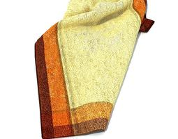 cream cotton towel with two color border 3d model