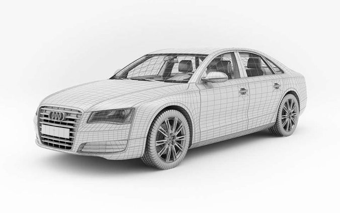 Great Car Audi A8 3D Model
