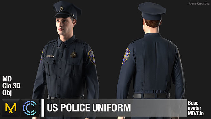 US Police Uniform Marvelous Designer project