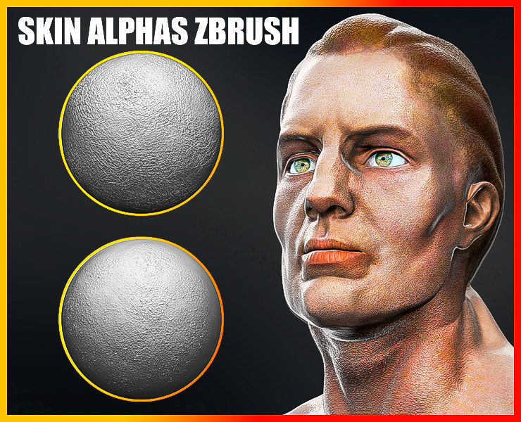 Skin Alphas for ZBrush