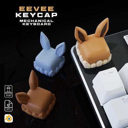 Eevee Pokemon - Keycap 3D mechanical keyboard - Eeveelutions