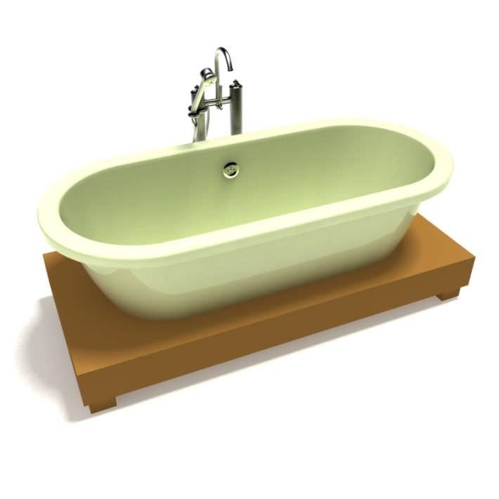 Retro Detailed Bathtub 3d Model