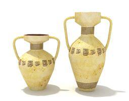 3D model Antique Service Set Two Vases