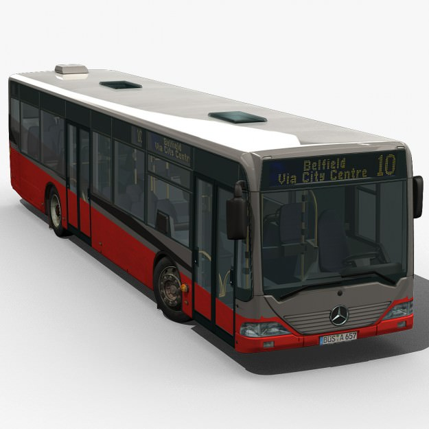 City Bus - Mercedes Citaro textured | 3D model