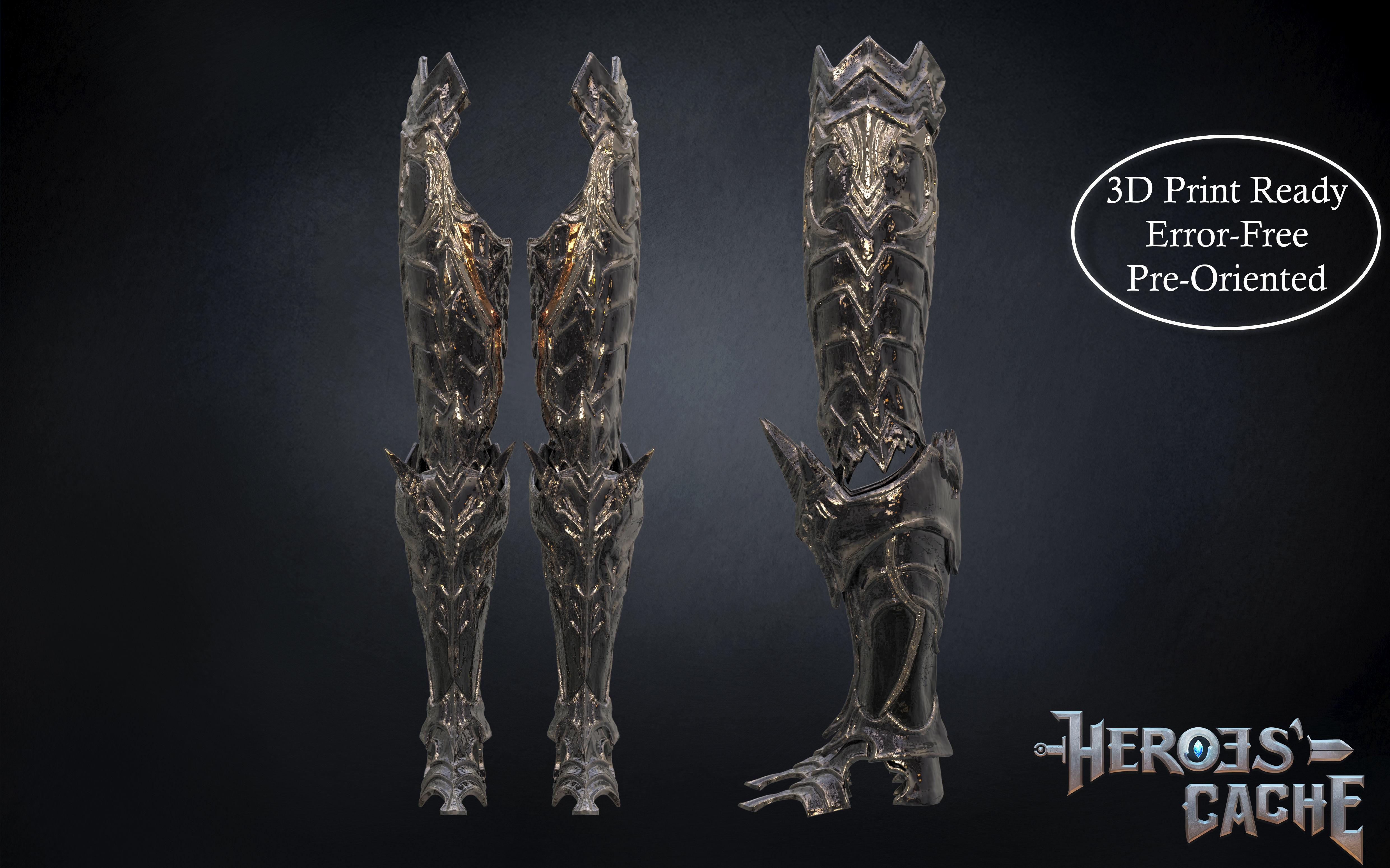 Final Fantasy XIV - Dark Knight Chaos Armor - Leg parts