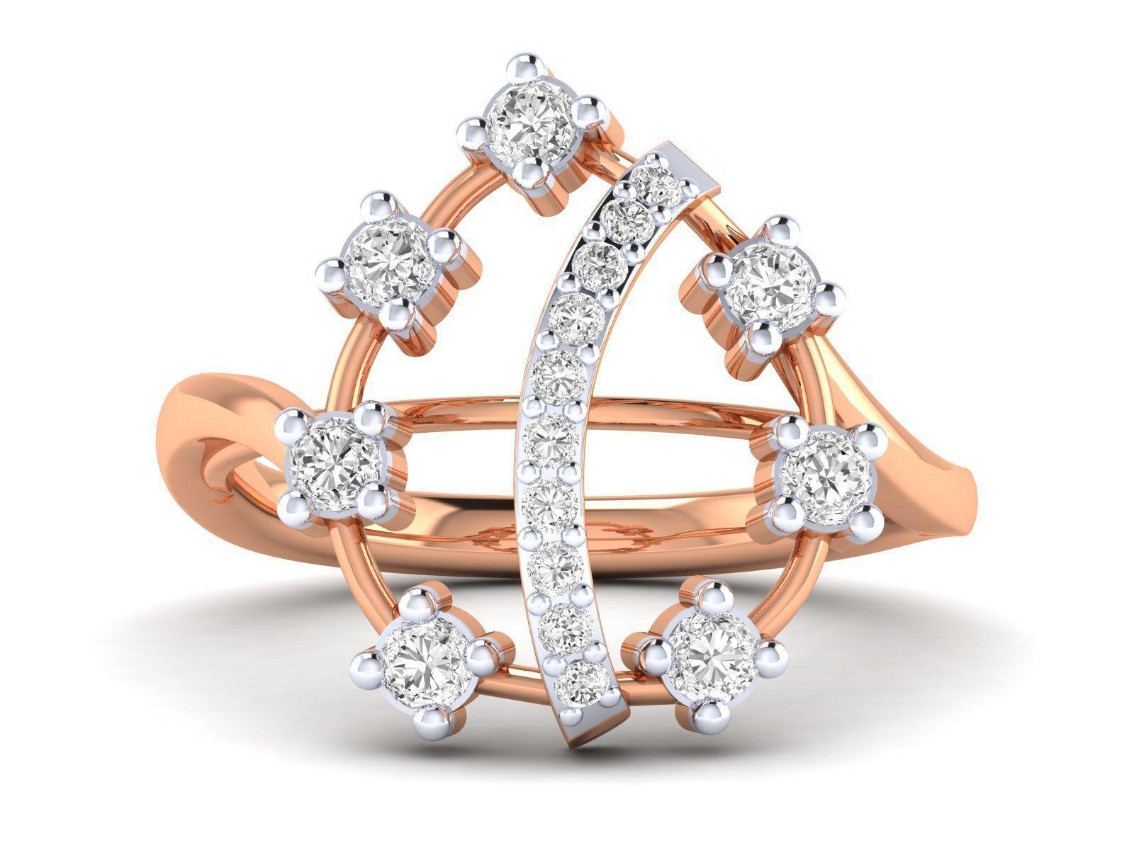 Women Ring 3dm stl render detail