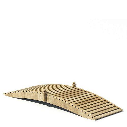 garden design   wooden bridge 3d model  1