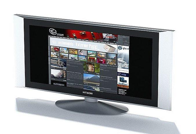 hitachi widescreen television 3d model max 1