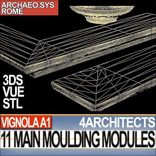 80 architecture moulding modules collection revit stl print 3d model 3d printable obj 3ds c4d. Black Bedroom Furniture Sets. Home Design Ideas