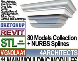 80 architecture moulding modules collection revit stl print