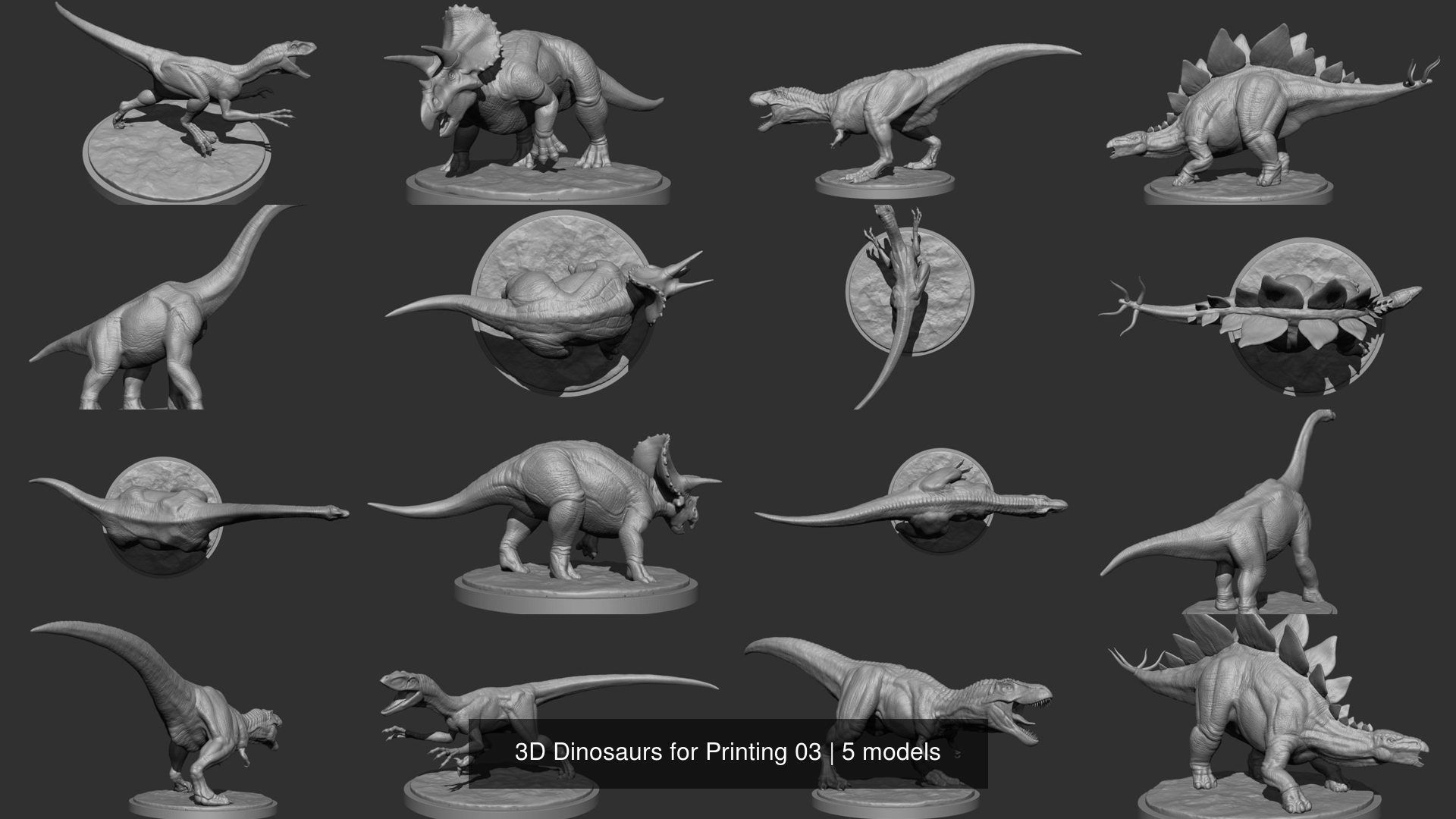 3D Dinosaurs for Printing 03