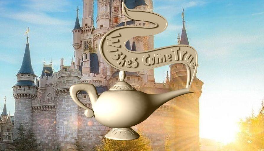 Aladdin lamp wishes come true