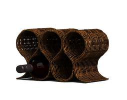 3D model Wicker Wine Rack