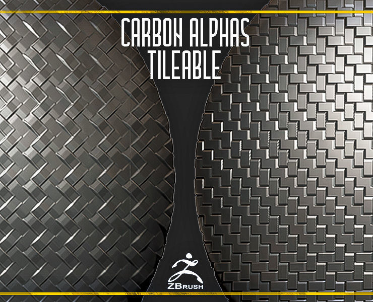 Carbone Alphas Tileable for ZBrush