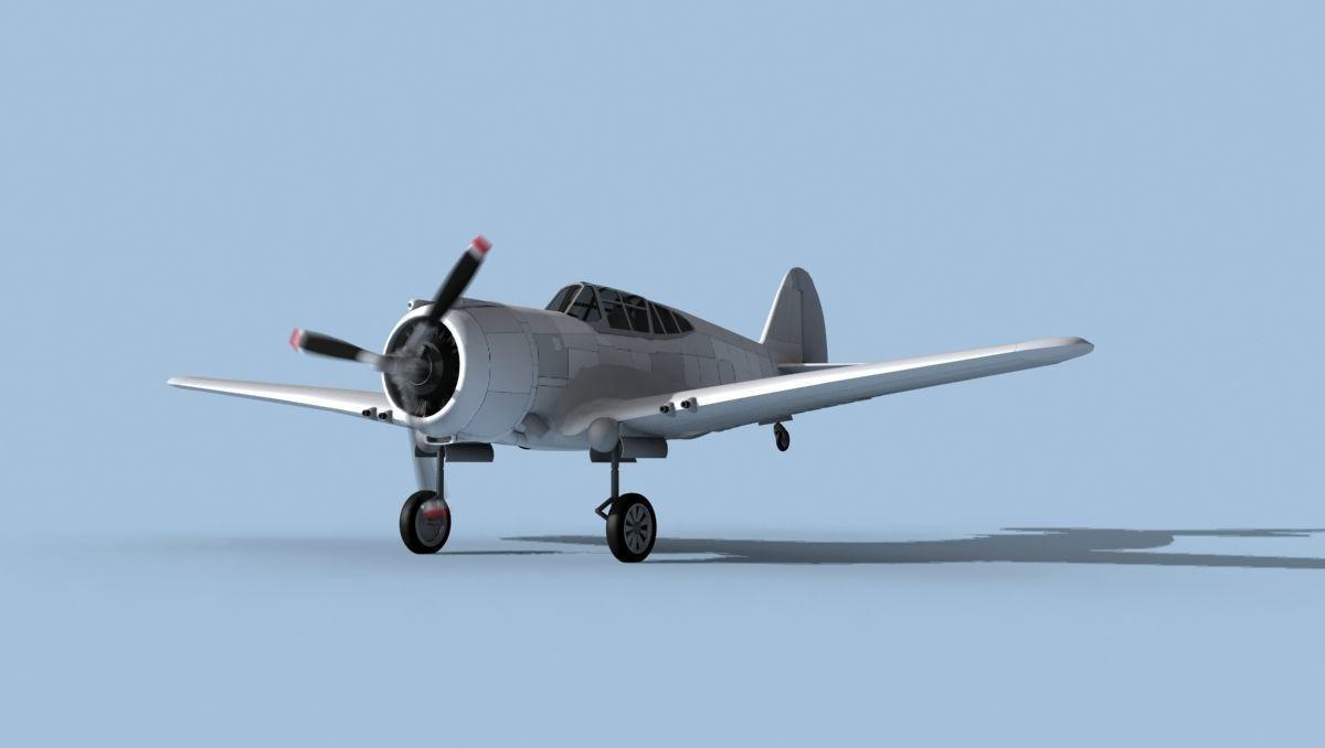 Curtiss P-36C Hawk Bare Metal