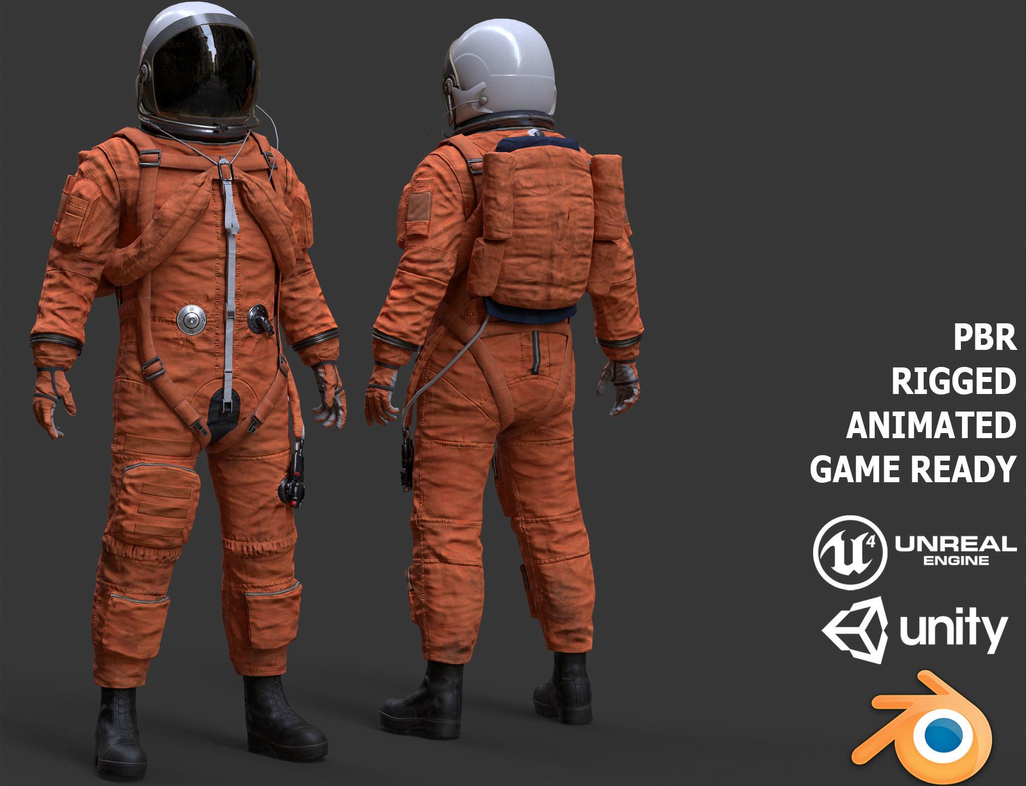 CS02 Male Space Suit LITE VERSION