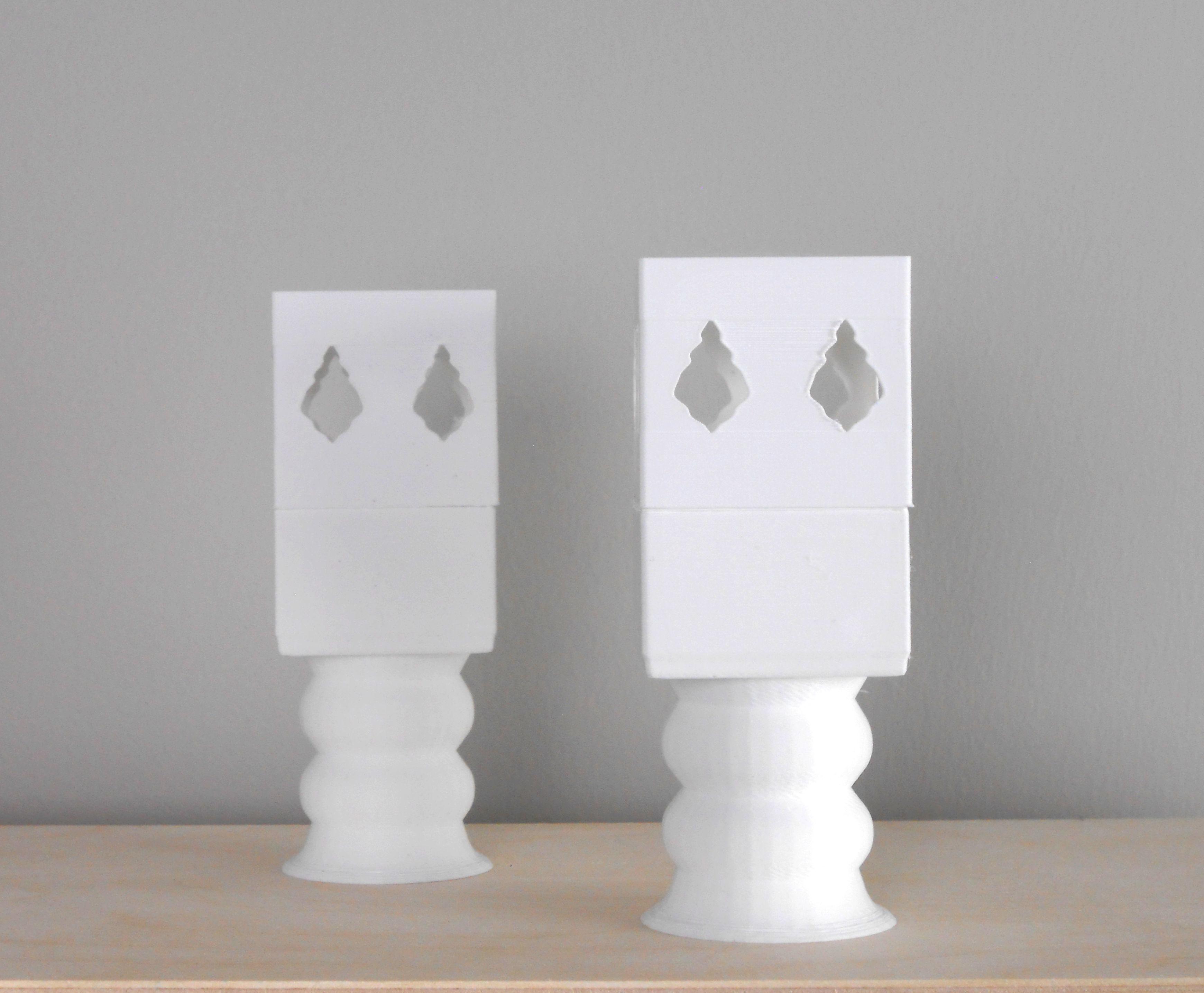 Cubic Leaf LED Tealight Candle Holder