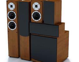 Wooden Stereo Speakers 3D model