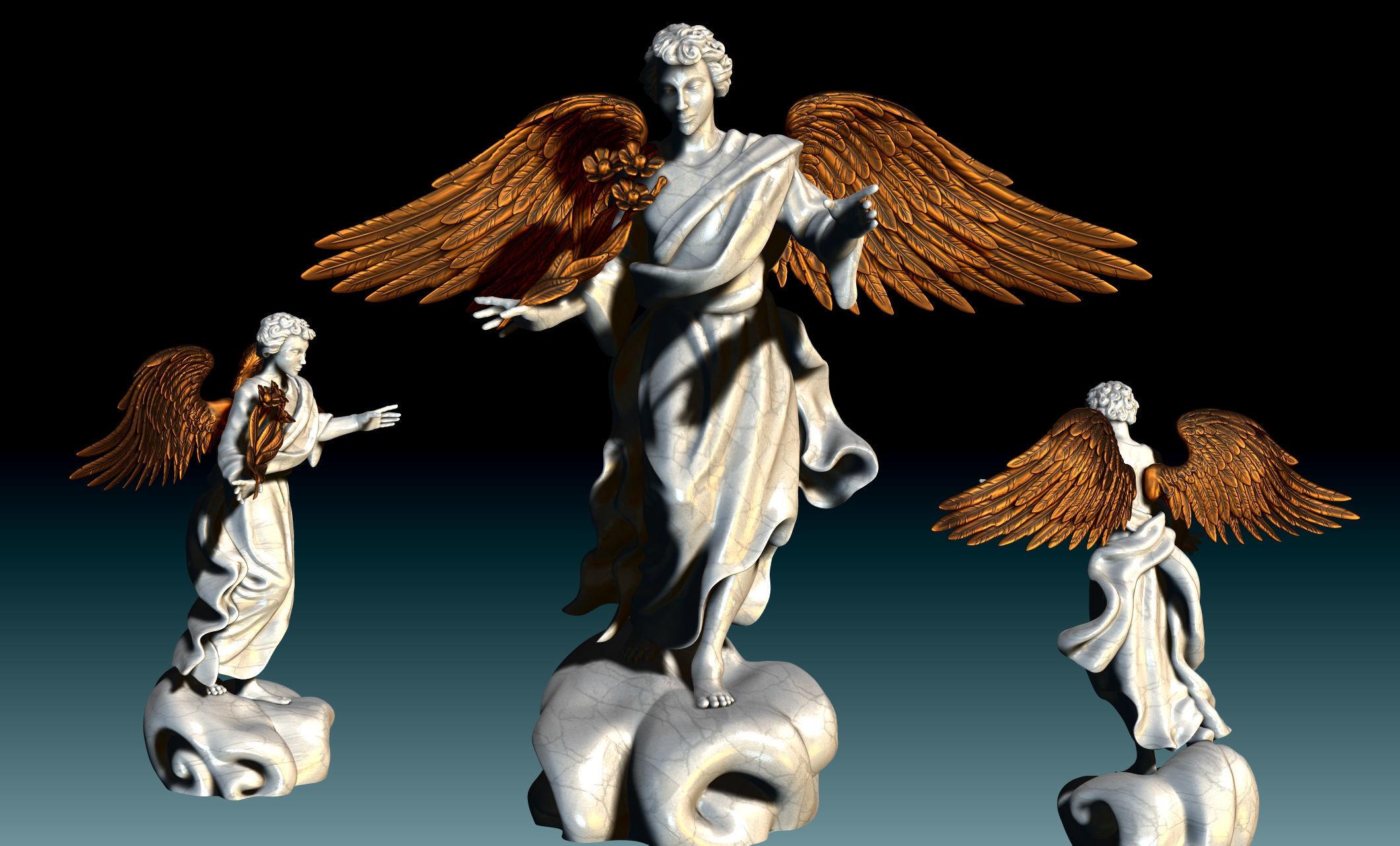 Arch-angel Uriel-Oriel-Auriel- CNC - Wood - Stone - Metal