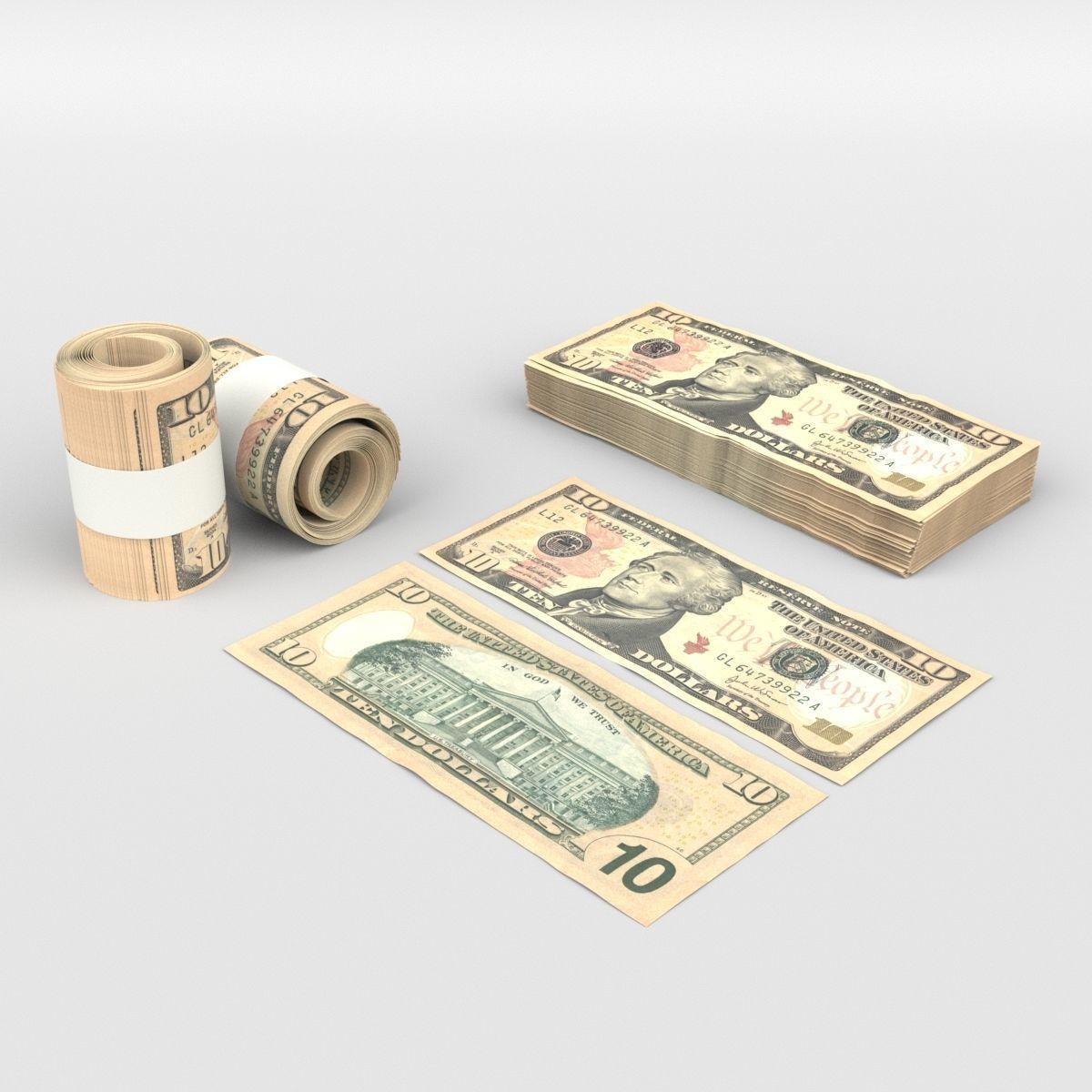 10 US Dollars