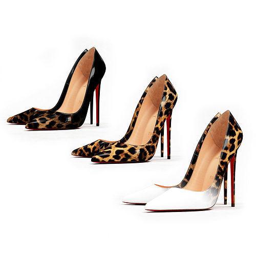 Christian Louboutin So Kate 120mm Leopard High Heels