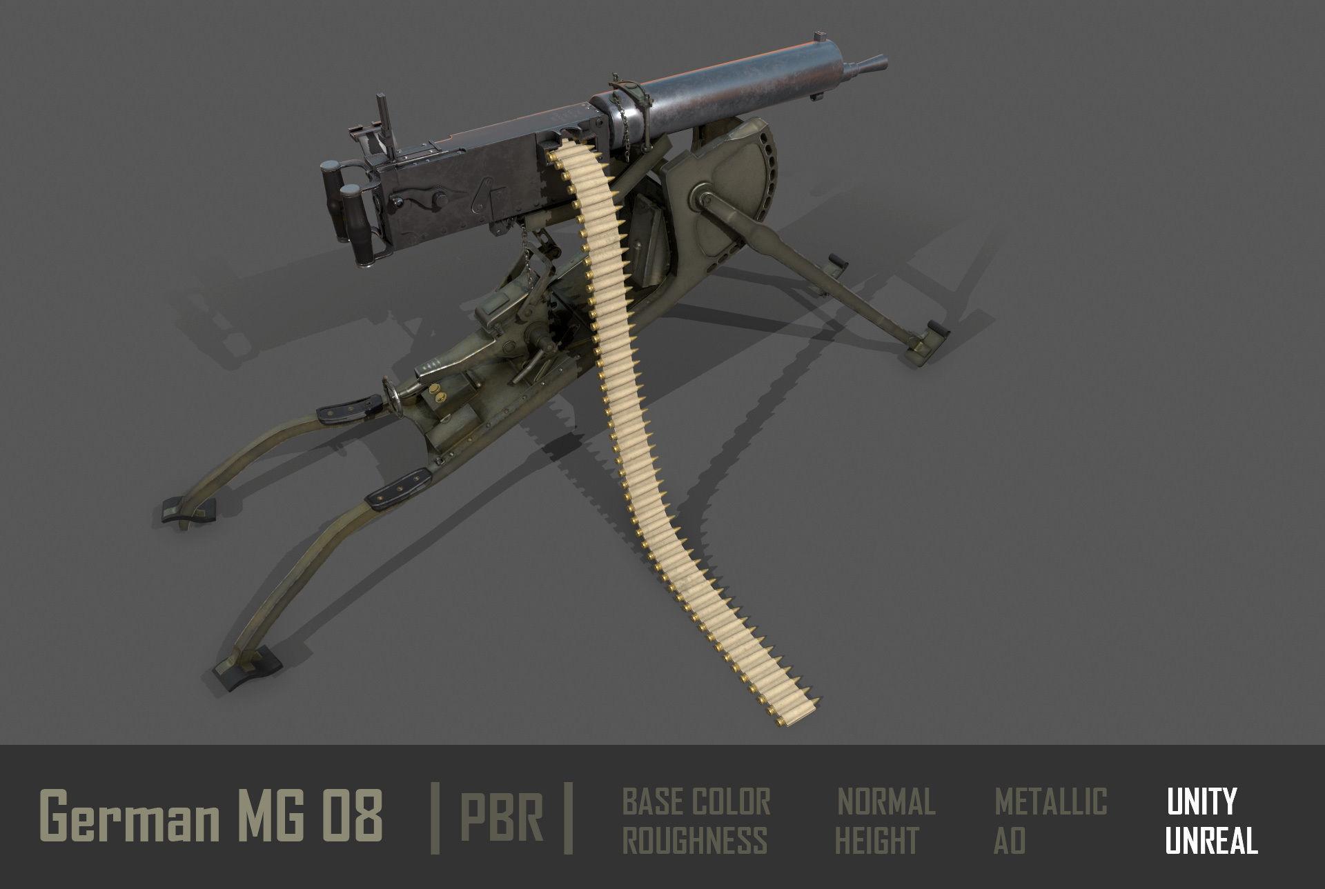 German  MG-08 Machine Gun