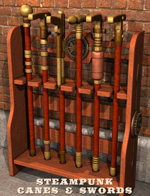Steampunk Canes And Swords