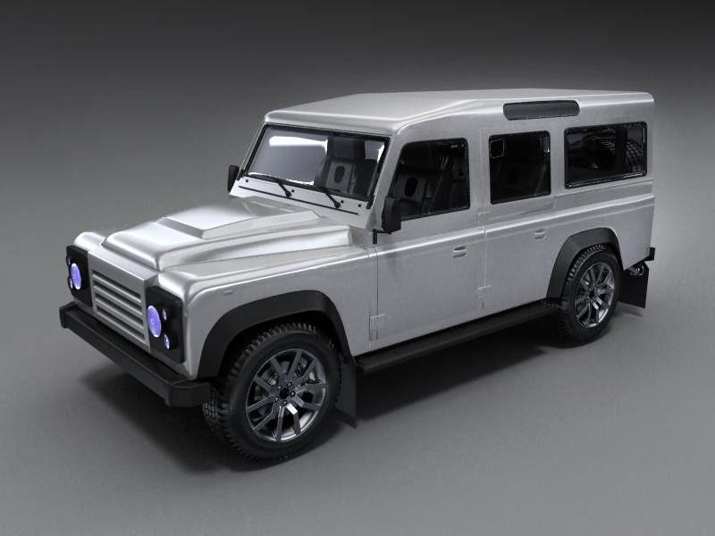 land rover defender 3d model max obj 3ds fbx. Black Bedroom Furniture Sets. Home Design Ideas