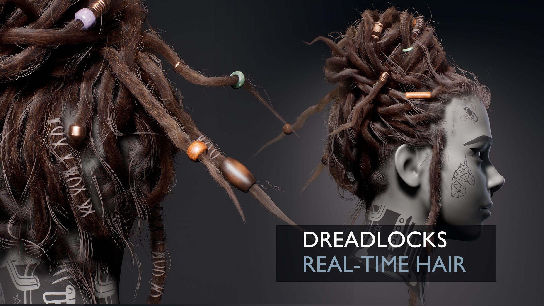 Dreadlocks Realtime Hairstyle - Game Hair
