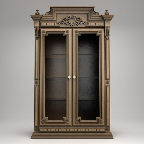 Antique Display Cabinet 3D model - Antique Display Cabinet 3D CGTrader