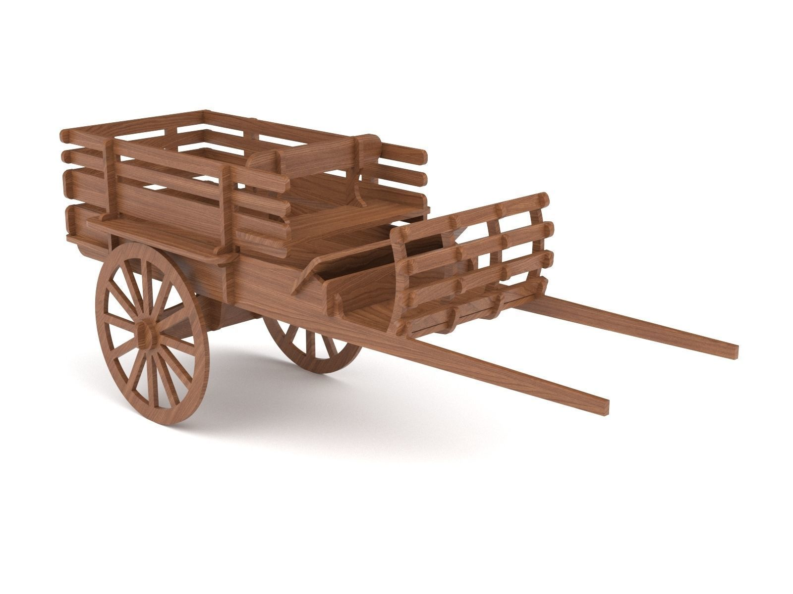 Wooden toy trolley 01