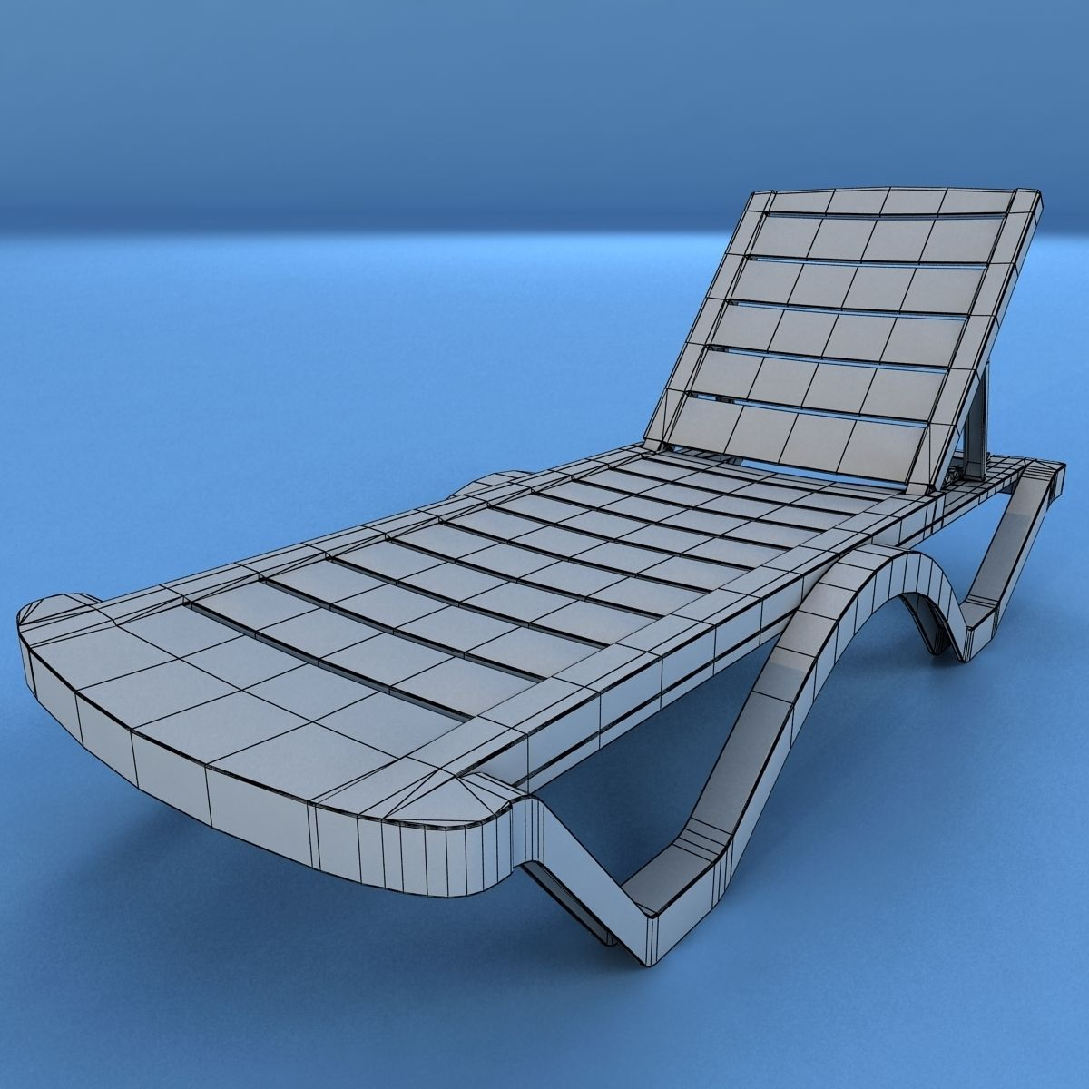 Lounge chair outdoor wood patio deck 3d model obj mtl cgtrader com -  Sunbed Plastic 3d Model Low Poly Max Obj 3ds Fbx Mtl 11
