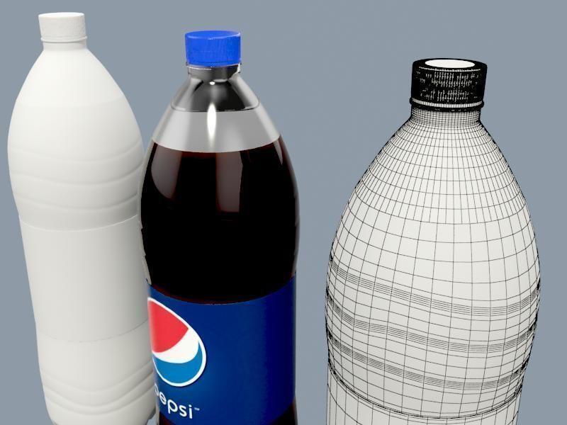 Pepsi bottle 3d   cgtrader.