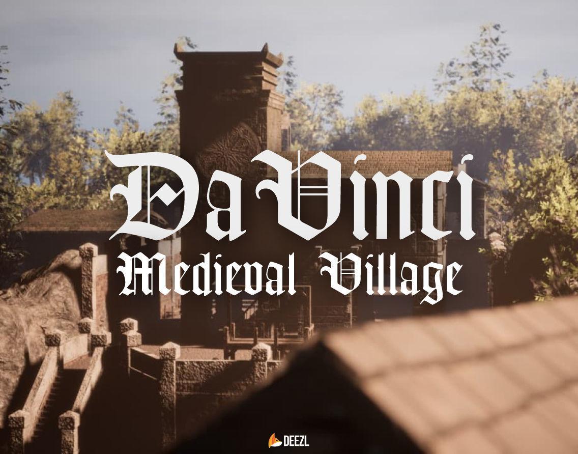 Da Vinci - Medieval Village - Blender and FBX