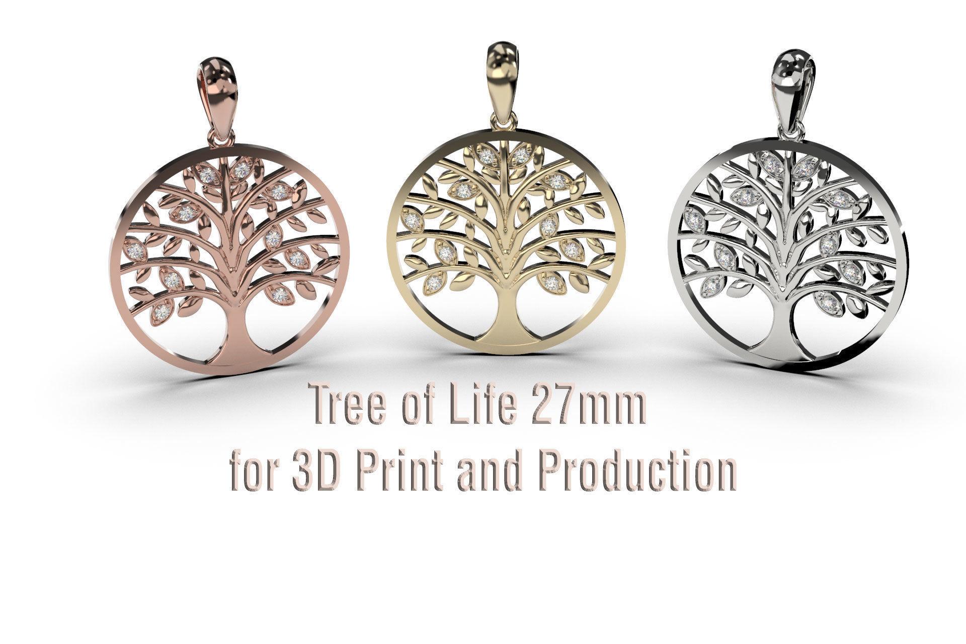 Tree of Life Pendant 27mm