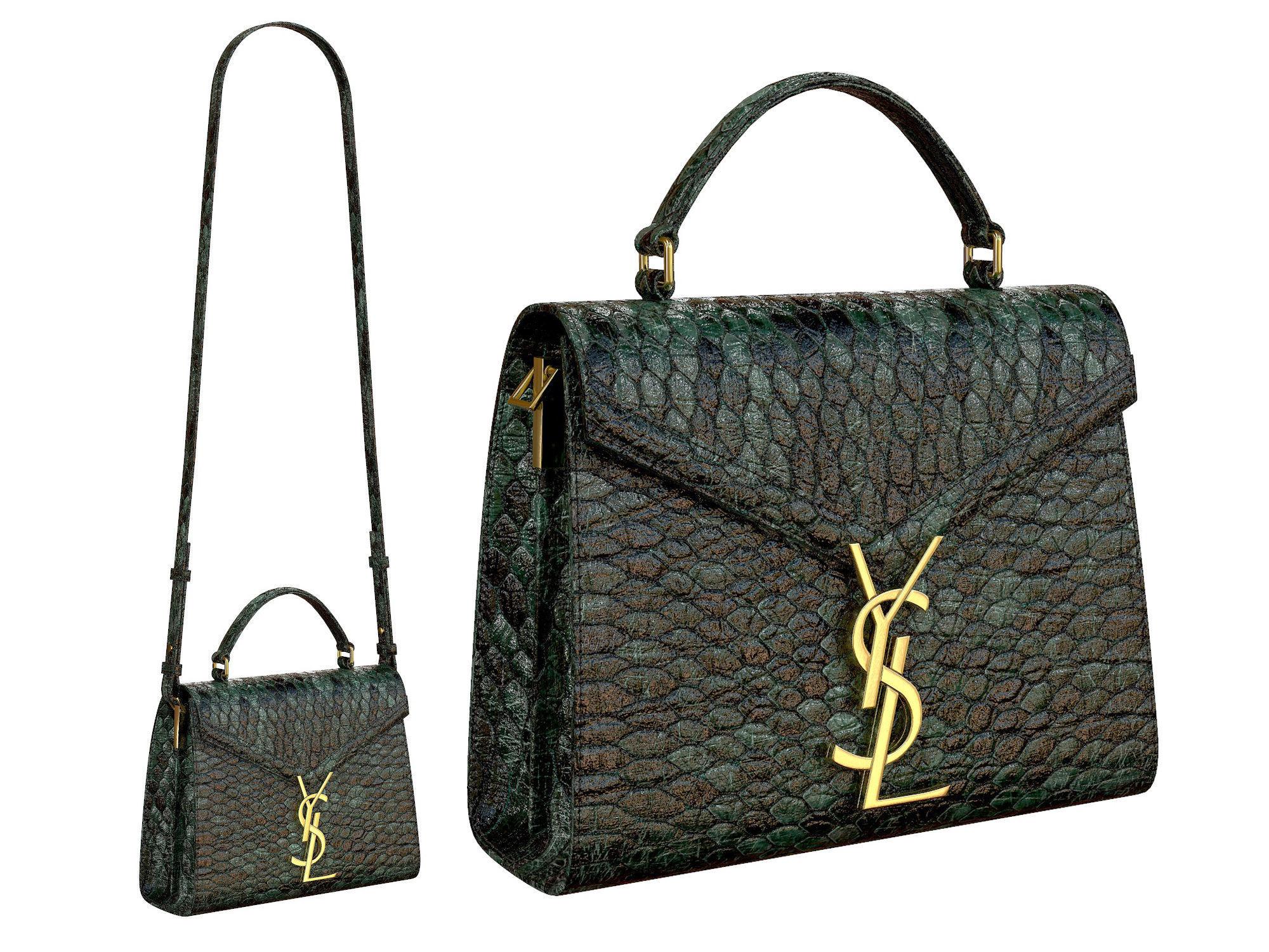YSL Saint Laurent Cassandra Mini Top Bag Snake