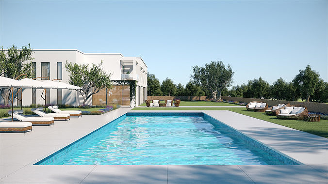 Exterior House Scene 6 - Pool Hotel