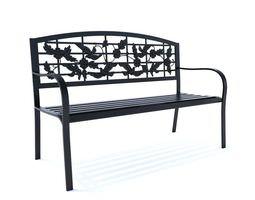 3D model Bench Dark Outdoor Metal