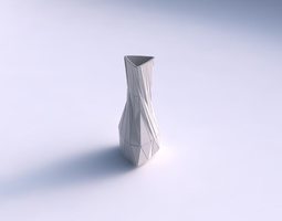 vase puffy triangle with twisted random triangle plates 3d print model