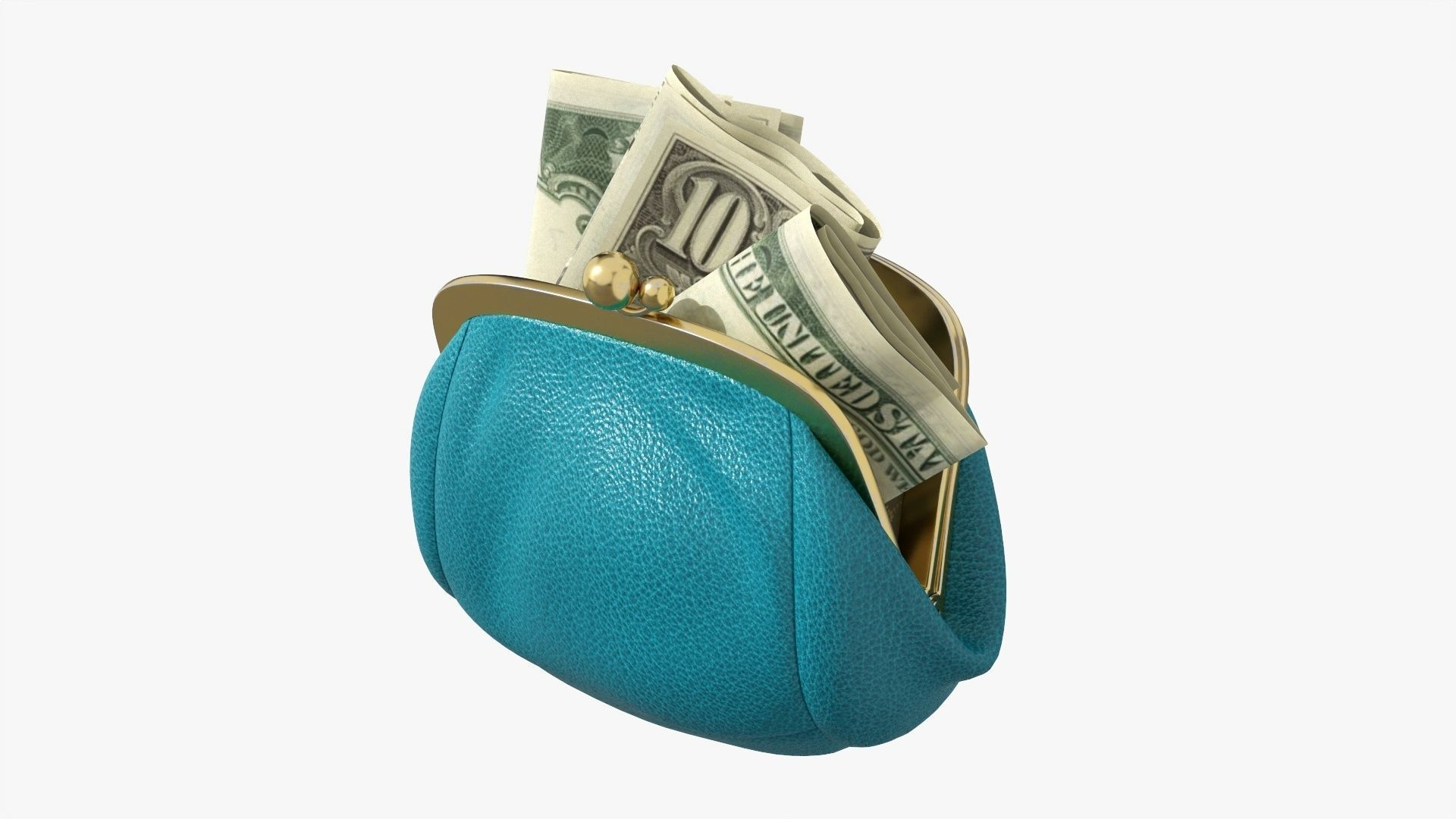 Female purse with banknotes