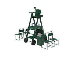 3D asset Umpire Chair