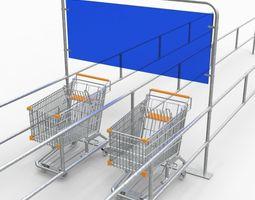 trolley rack 3d model fbx ma mb