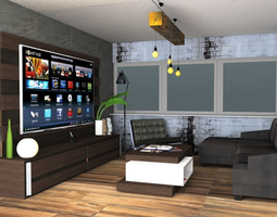 architecture 3D model living room